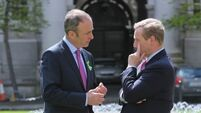 First signs of government as Enda Kenny makes historic power sharing offer to Micheál Martin