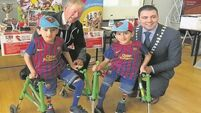 Watch as Ireland's miracle twins Hassan and Hussein show off soccer skills