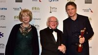 TV and film stars shine at IFTAs despite the rainclouds