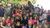 Chewie gets céad míle fáilte during surprise school visit in Kerry