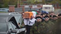 Police arrest 15 at funeral of dissident republican Michael Barr