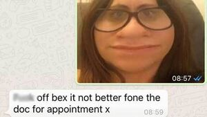 This poor mother got an awful fright when her daughter sent her a photo of her 'square' head