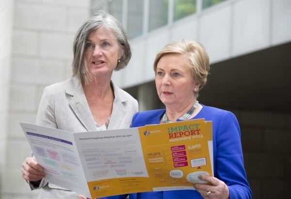 Margaret Martin of Women's Aid with Justice Minister Frances Fitzgerald. Picture: Paul Sharp