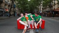 Our man in the van: Deluge fails to dampen Irish spirits in Paris