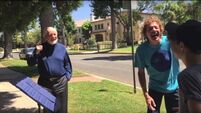 Watch John Williams surprise two musicians playing Star Wars theme outside his house