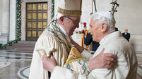 Benedict praises 'goodness' of Pope Francis