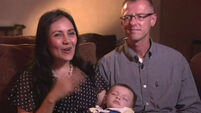 Baby swap couple finally take real son home