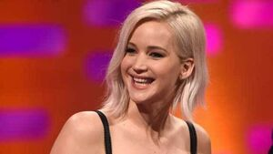 Jennifer Lawrence left red-faced by Harrison Ford