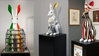 These colourful hares are raising money for a great cause