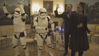 Obamas get down with R2-D2 and stormtroopers to celebrate May the 4th
