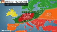 AccuWeather's global weather forecast predicts wet summer