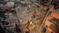 Baby rescued three days after building collapsed in Kenya