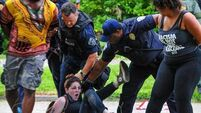 Dozens of protesters arrested in US