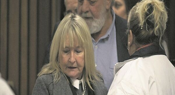 Reeva Steenkamp's parents June and Barry arrive inside the court for the hearing. Their representative said: 'The family has said it before they wanted the law to run its course. It has done so.'