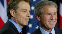 Tony Blair allied with George Bush months before war
