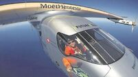 Solar-powered plane completes Pacific journey