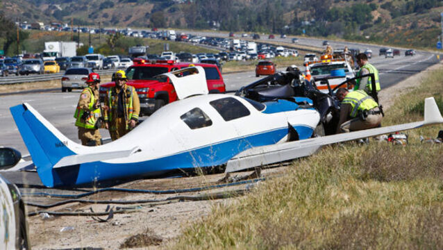 Plane crashes into same California highway where it once landed