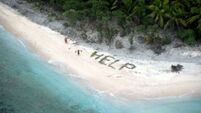 QUIRKY WORLD ... Real-life castaways saved after spelling out 'help'