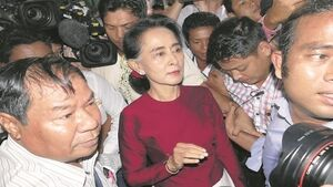 Aung San Suu Kyi runs for Burmese presidency in all but name