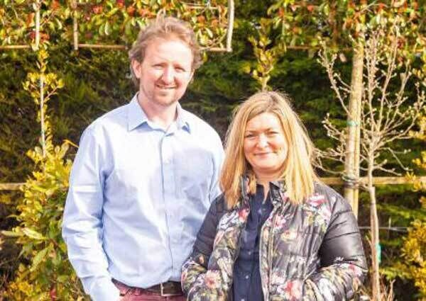 Ian and Jo McGarry of Caragh Nurseries who designed the gardens at Galgorm