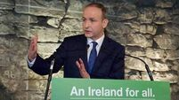 Micheál Martin sitting on the fence as he always has