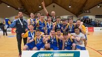 Castleisland celebrate with the trophy 26/1/2016