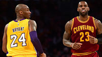 LeBron James faces Kobe Bryant one last time