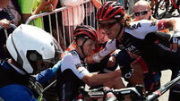 Sam Bennett hangs in amid early carnage at Tour de France