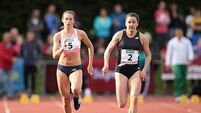 Relay hero Phil Healy reverts to 100m and edges out her sister in season's best time