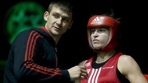 Katie Taylor claims first Irish title in the ring