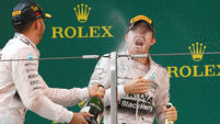 Russian win sees Lewis Hamilton in pole