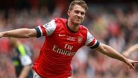 Blow for Arsenal as Aaron Ramsey faces month on the sidelines