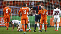 Robin van Persie scores own goal as Holland fall short of play-offs