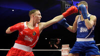 Michael OÕReilly in action against Conor Wallace 11/12/2015