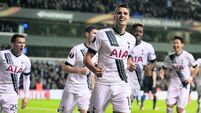 Erik Lamela on fire for Tottenham Hotspurs