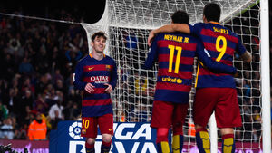 Barcelona's lethal trio in party mood against Real Sociedad