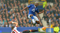 Rejuvenated Arouna Kone hits hat-trick for Everton against Sunderland