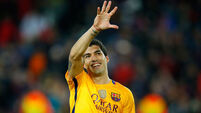 Luis Suarez nets twice to rescue Barcelona