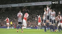 Alexis Sanchez lifts Emirates mood with two goals against West Brom