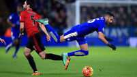 Leicester frustrated by battling West Brom