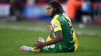 Norwich striker Mbokani 'unharmed but shaken' after Brussels airport attack
