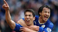 Leonardo Ulloa points way as Leicester City edge closer to Premier League title