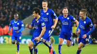 Shinji Okazaki swings into action for Leicester City