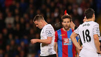 Ireland star James McCarthy sees red but Everton hold Crystal Palace