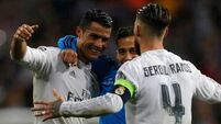 Cristiano Ronaldo hat-trick sends Real Madrid into semis