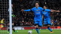 Arsenal undone as lethal Messi puts Barcelona in control