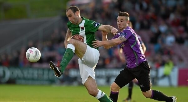 Dan Murray playing for Cork City
