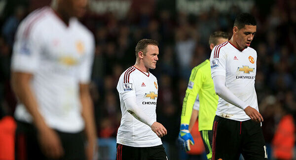 Manchester United's Wayne Rooney looks dejected as he walks off after the final whistle. Photo: Nick Potts/PA
