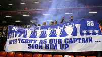 Chelsea fans show support for absent John Terry at Anfield