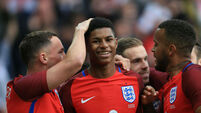 Marcus Rashford gets the nod as Townsend, Drinkwater and Delph miss out